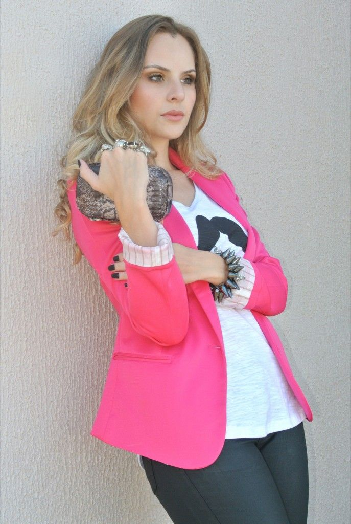 mustache + pink