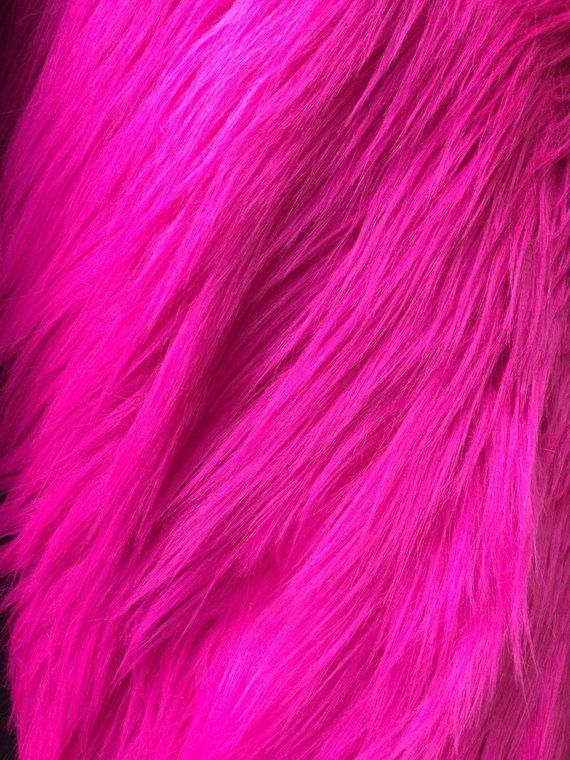 Eden HOT PINK 2 Inch Long Pile Soft Faux Fur Fabric by the | Etsy