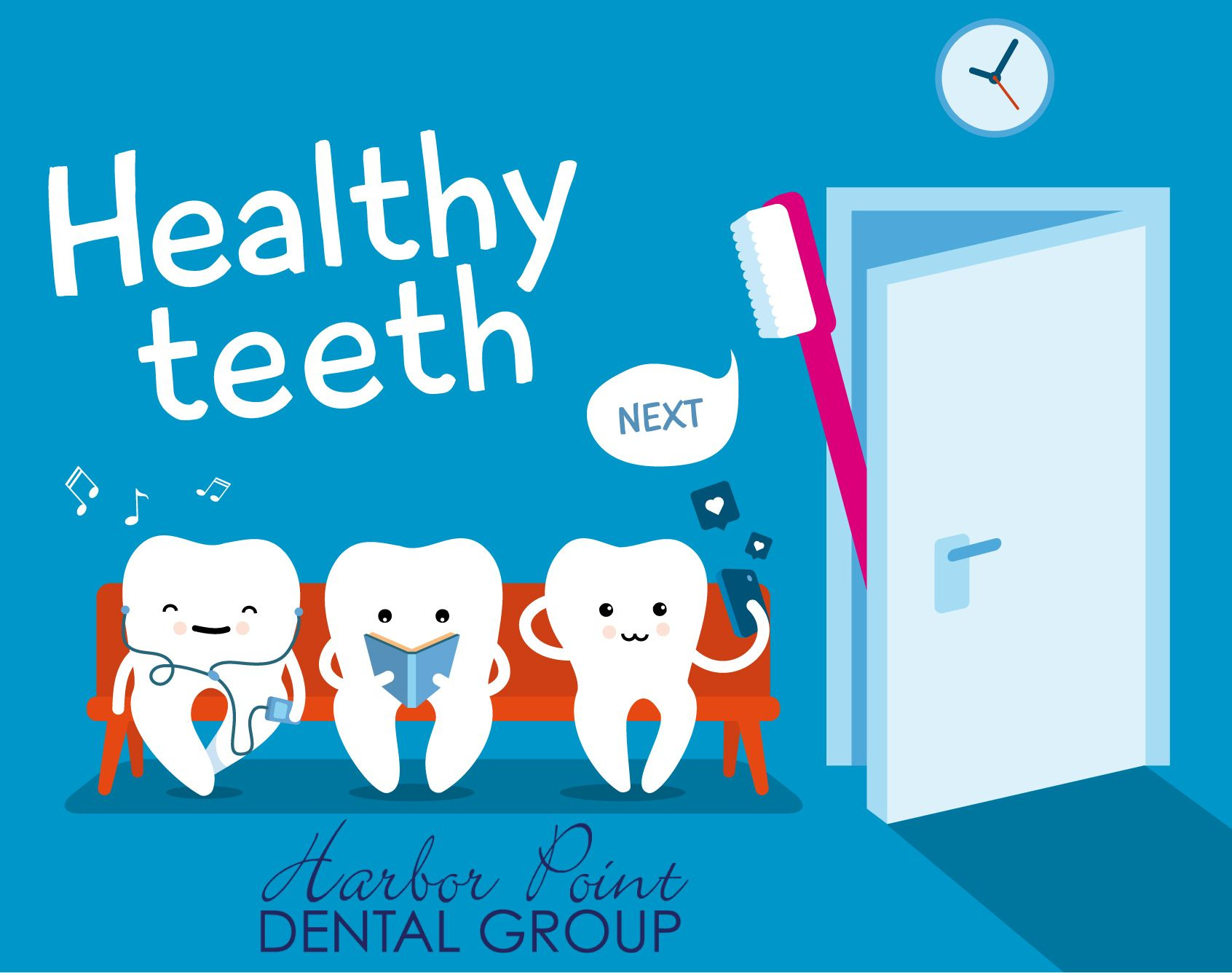 Schedule your dentist appointment with us today. http