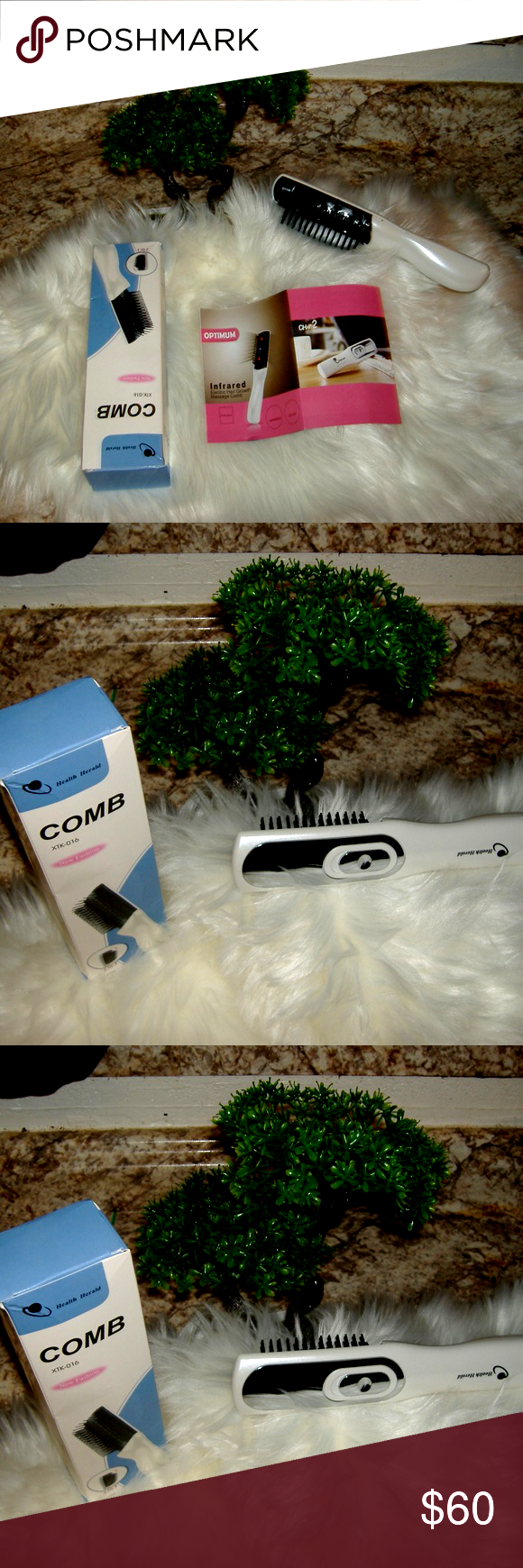 Supplement for Hair Growth} and Professional Hair Growth Laser Comb FDA 5 STAR,S Brand New Hair Growth Laser Comb - Advanced FDA Cleared Hair Loss Treatment For Women & Men With Thinning Hair - Superior Regrowth Therapy Combs To Grow Thicker & Fuller Hair Red Light Stimulate hair follicles for thicker & stronger hair 6 minutes a day New Year New Hair. XTK-016 New Fashions Other
