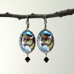 Def Leopard Earrings