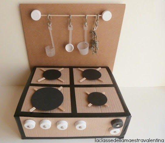 Mommo Design 6 Recycled Cardboard Toys Cocina De Carton
