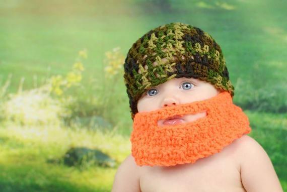 Beard Hat, Baby Beard Hat, Crochet Beard Hat, Baby Beard Costume, Camo Beard Hat, Child Beard Hat, Crochet Hat, Knit Beard Hat, Lumberjack #crochetedbeards