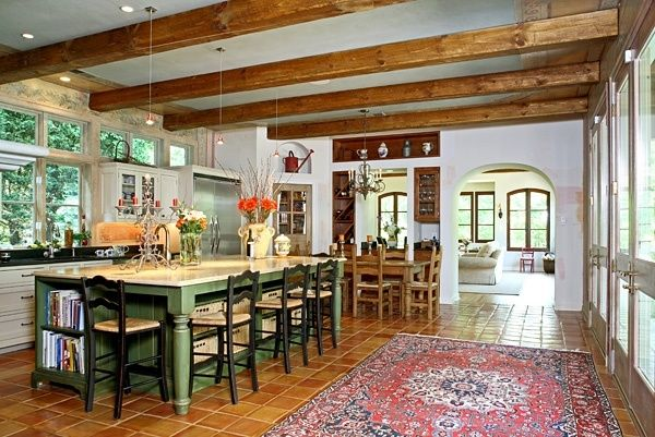 spanish style kitchen -- i love the light and openness: bower