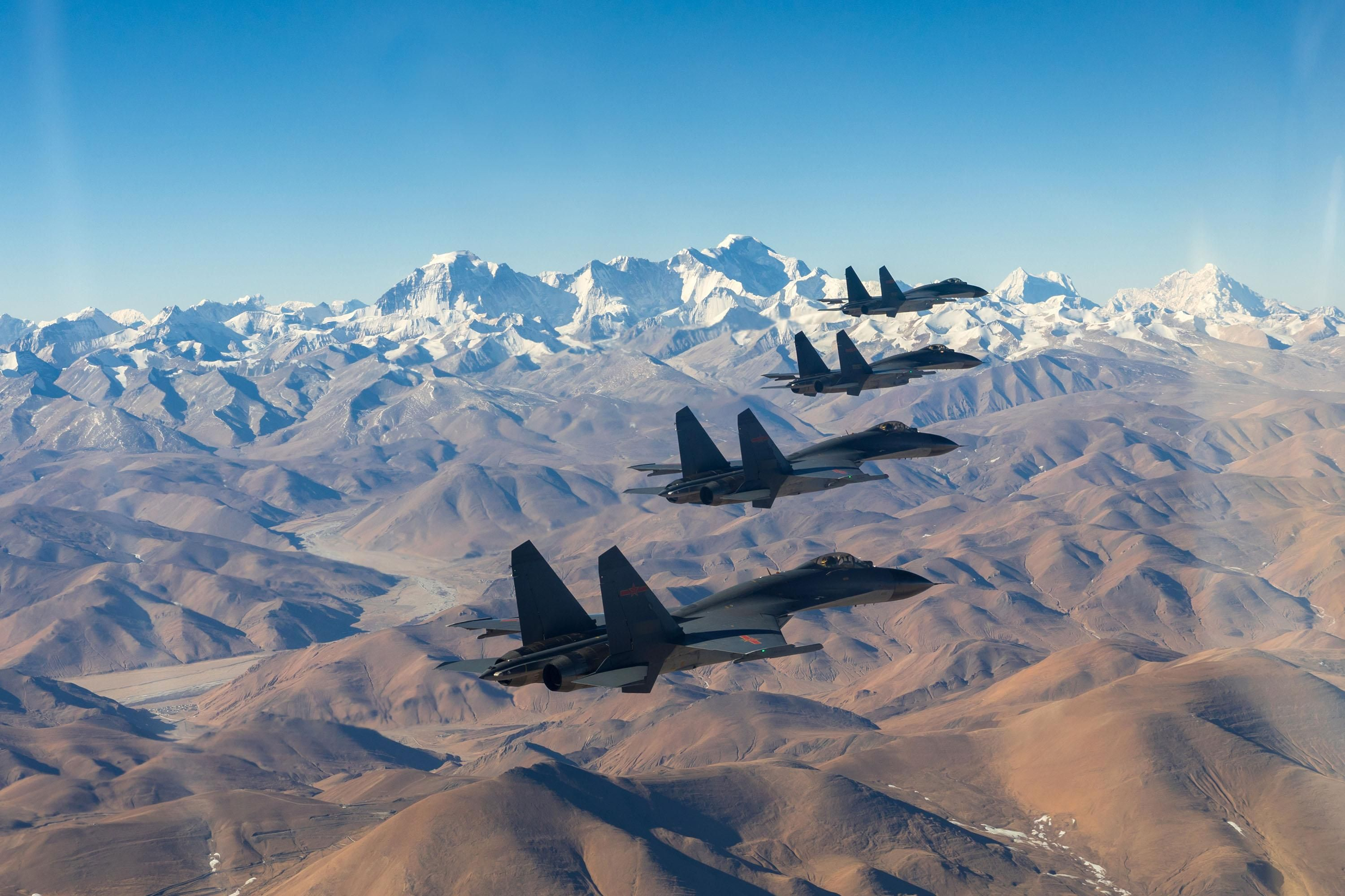 A Group Of J 11 Fighter Jets Attached To An Aviation Brigade Of