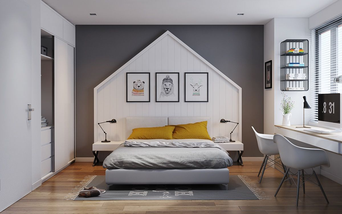 Fabulous Bedroom Design With Soft Color.