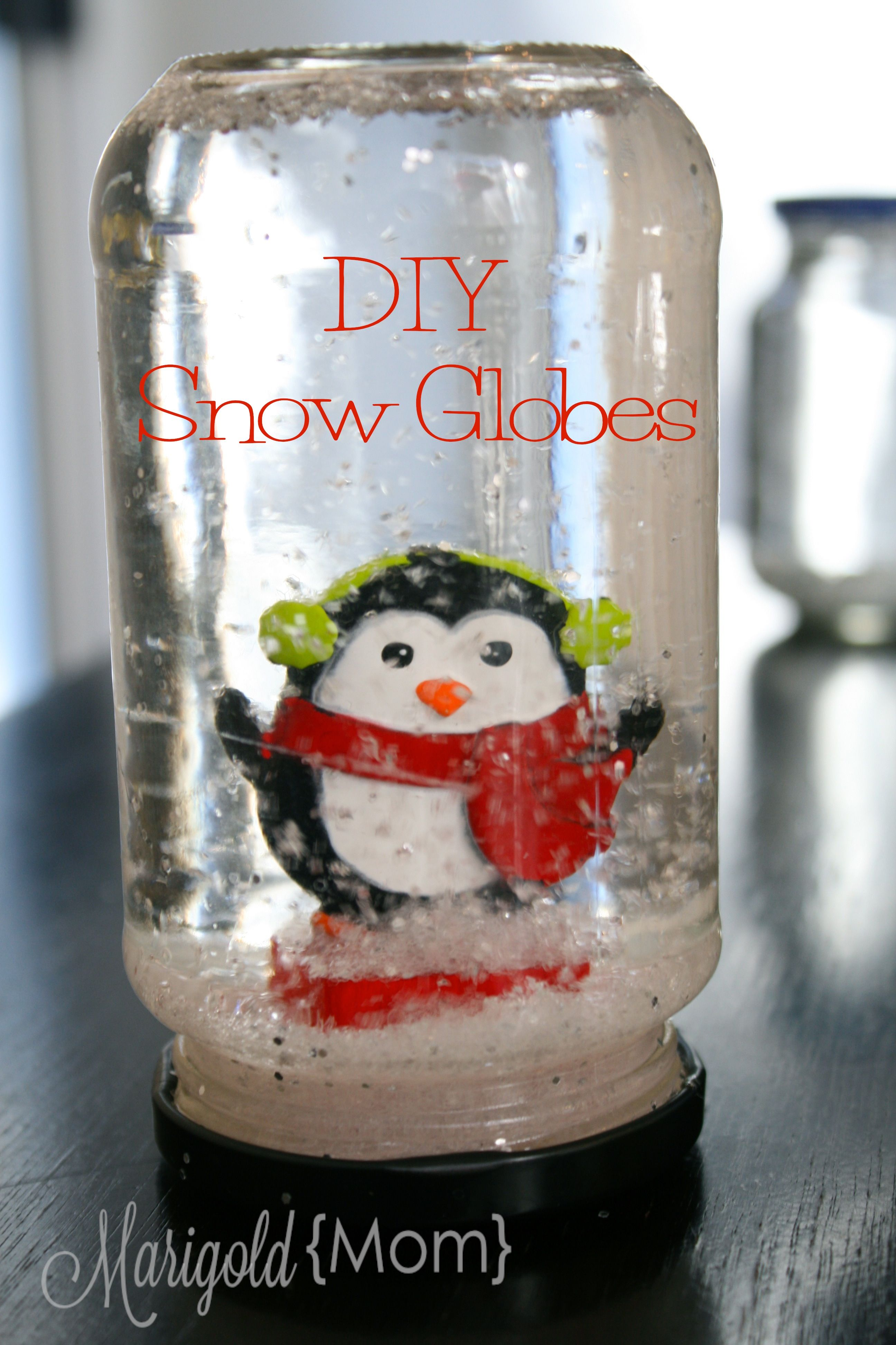 DIY Glittery Snow Globes Diy snow