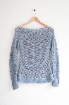 3a6dfd83d CROCHET PATTERN - DIY spring sweater easy