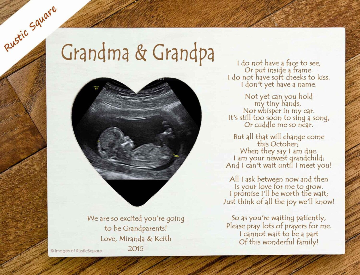 letter with a gift for grandparents pregnancy announced pregnancyannouncementforgrandparents