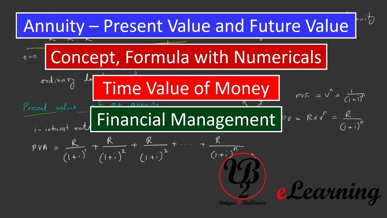 Annuity Present Value Of Annuity Future Value Of Annuity Time Valu Financial Management Annuity Financial