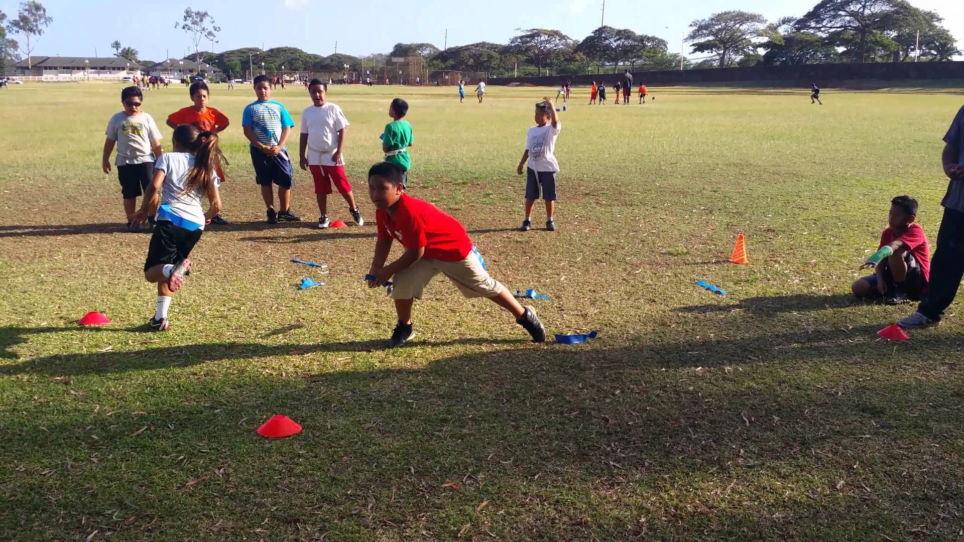 Flag pulling drill positive learning physical education