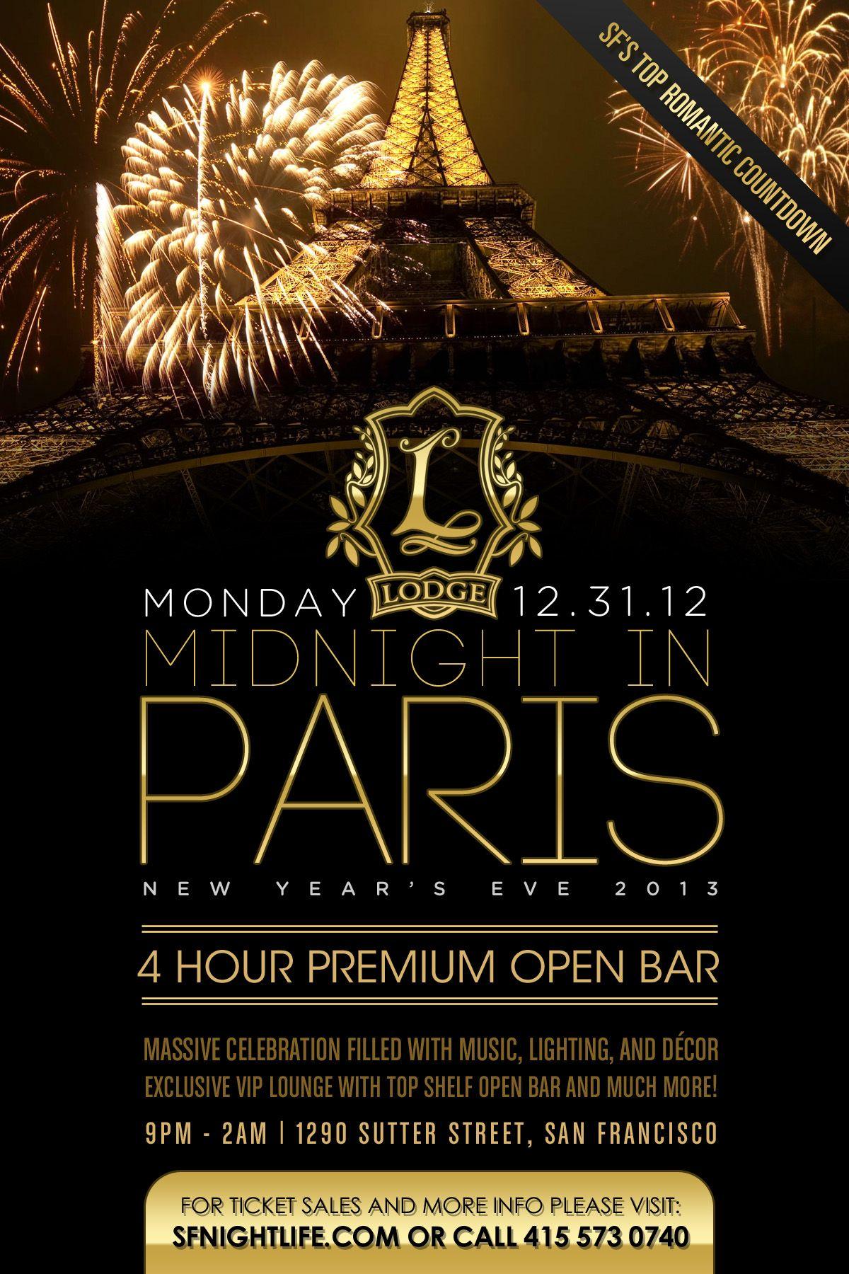 Midnight in Paris NYE 2013 - SF Tickets, San Francisco ...