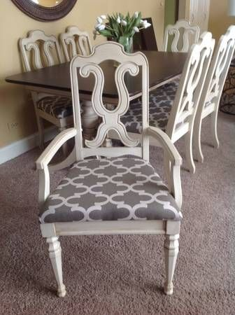 Reupholster Chair Seats With Bold Print Saw This On Craigslist - Craigslist chicago dining table