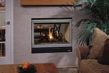 Lennox Edvst See Through Gas Fireplace Direct Vent Heats Up To 1 000 Square Feet Fireplace Direct Vent Fireplace Gas Fireplace