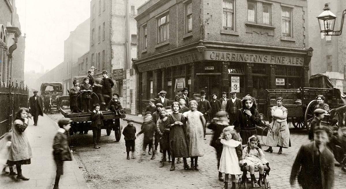 """Jewish East End of London"" England London, circa 1900"