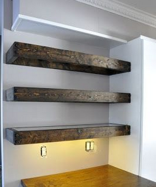 Cantilever Shelves Led Light Bellow Shelve Floating Shelves