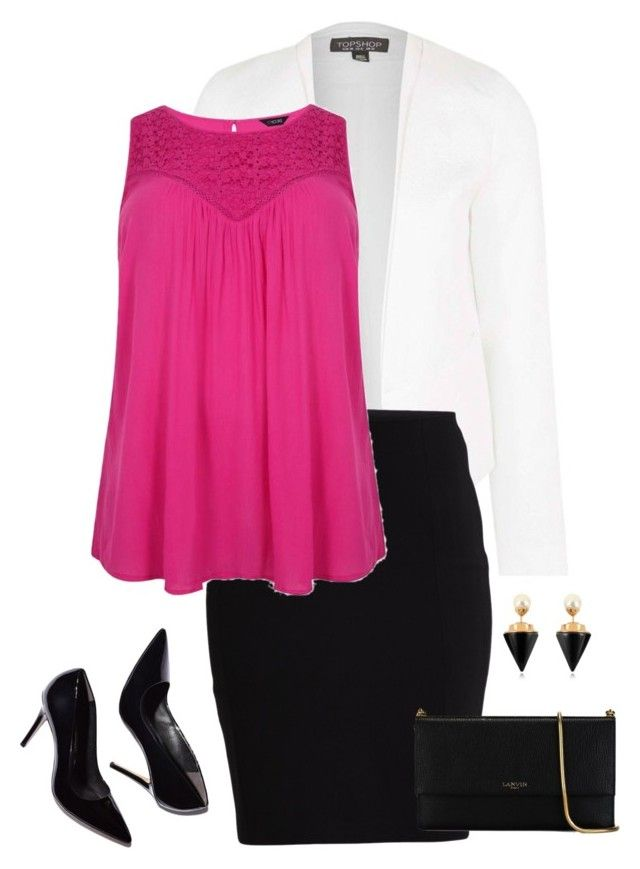 """Untitled #65"" by stay-gold13 on Polyvore featuring Topshop, VILA, Lanvin and Vita Fede"