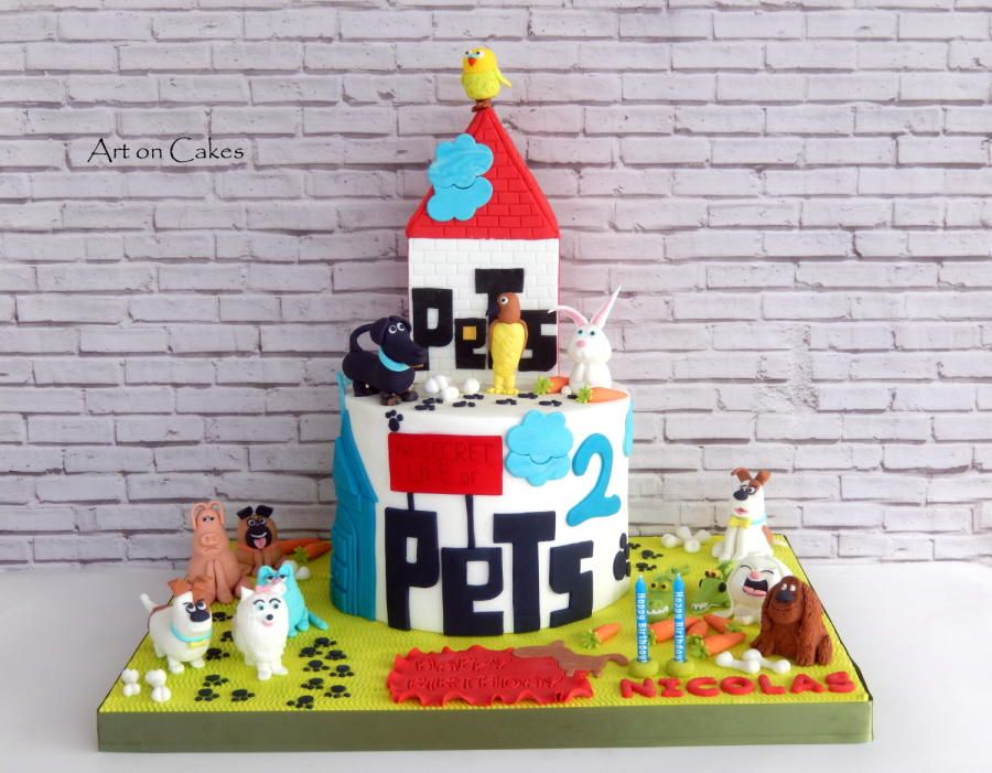 The Secret Life Of Pets Cake Cake By Despina Mara Secret Life Of Pets Dog Themed Parties Secret Life