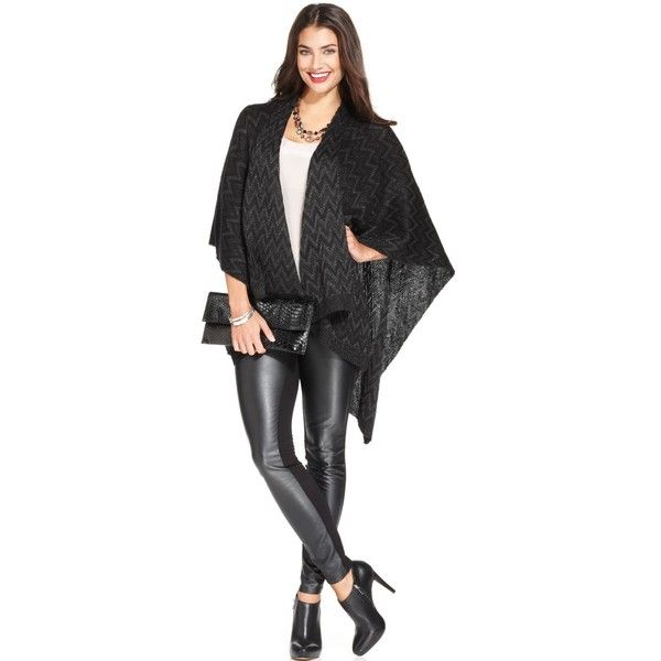 Collection XIIX Chevron Lurex Poncho and other apparel, accessories and trends. Browse and shop related looks.