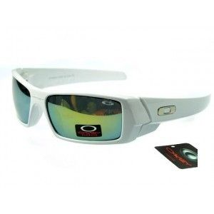 84bb352fc9 Cheap Oakley Gascan Sunglasses yellow-blue Iridium white frames Hot Sale