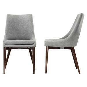 Sullivan Mid Century Dining Chair Wood/Gray (Set of 2) - Homelegance