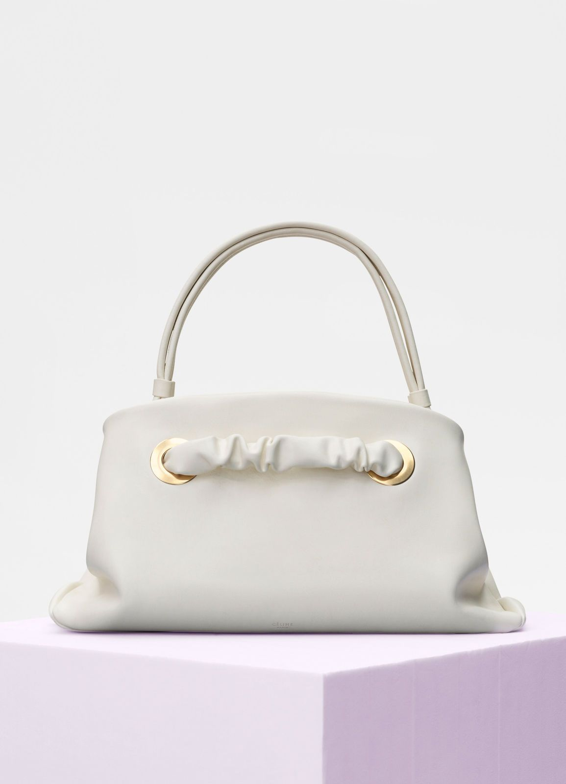 92a318fe7a Céline - Small purse with eyelets bag in shiny white calfskin