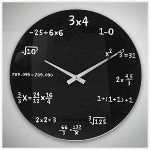 Horloge Mathematiques Horloge Mathematiques Horloge Murale Horloge Bricolage