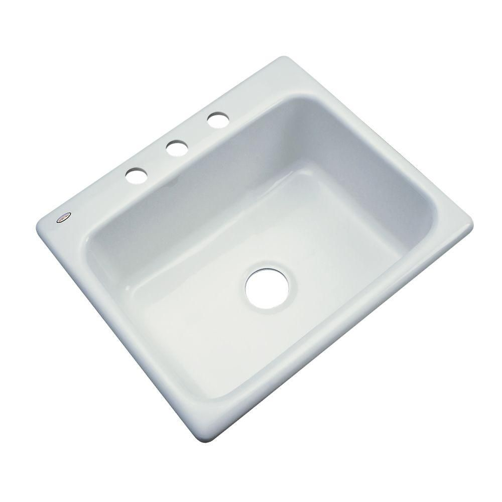 Inverness dropin acrylic in hole single bowl kitchen sink in