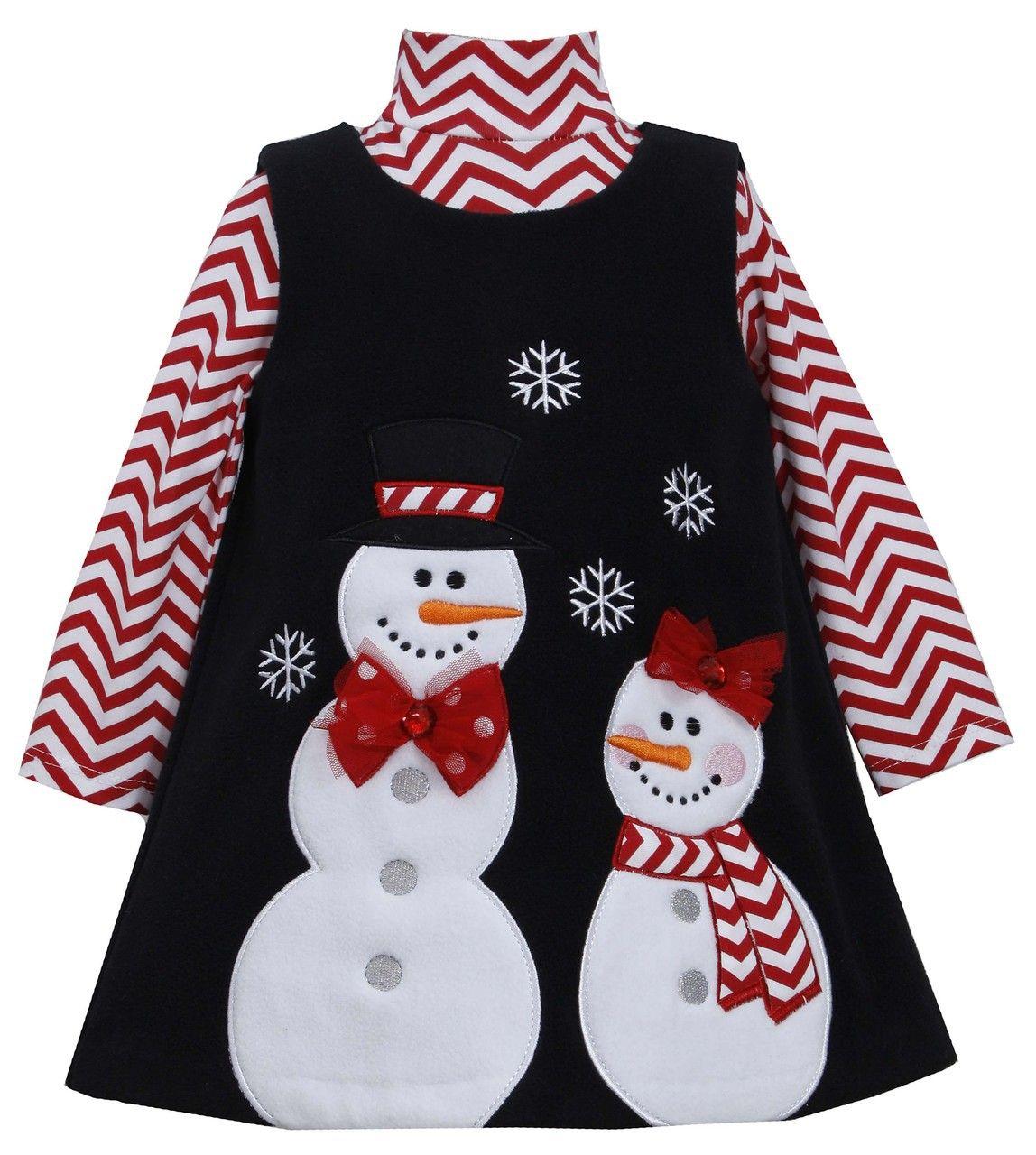 7f8e5cb919ef Ella Blu Store - Bonnie Jean Christmas Holiday Snowman Jumper Set 4-6X,  $25.00