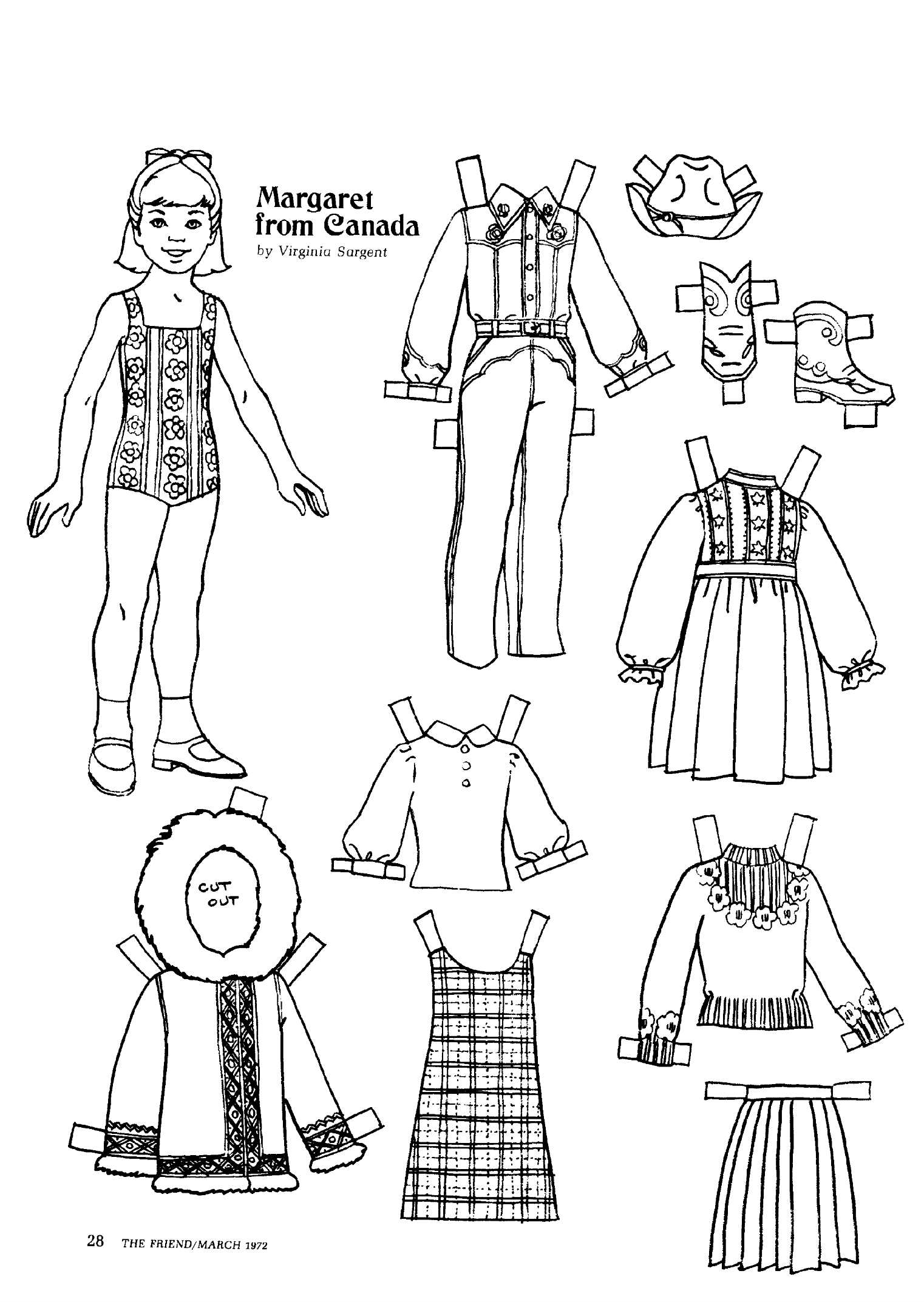 The Friend magazine Paper Doll Canada