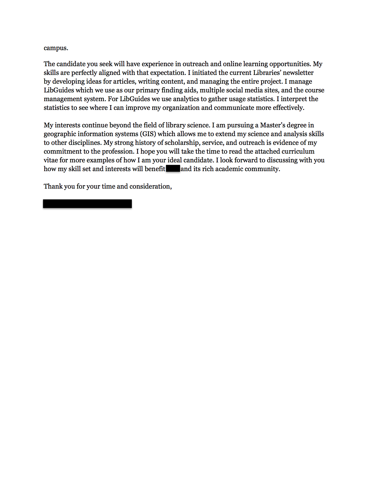 Community relations cover letter. Use this academic advisor cover ...