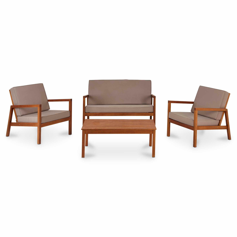 Sakar Wooden 4 Seater Coffee Set Departments Diy At B 400 x 300