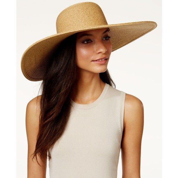 64ba283980c98f Nine West Packable Super Floppy Hat featuring polyvore, women's fashion,  accessories, hats, natural, nine west, nine west hats, wide brim sun hat,  ...