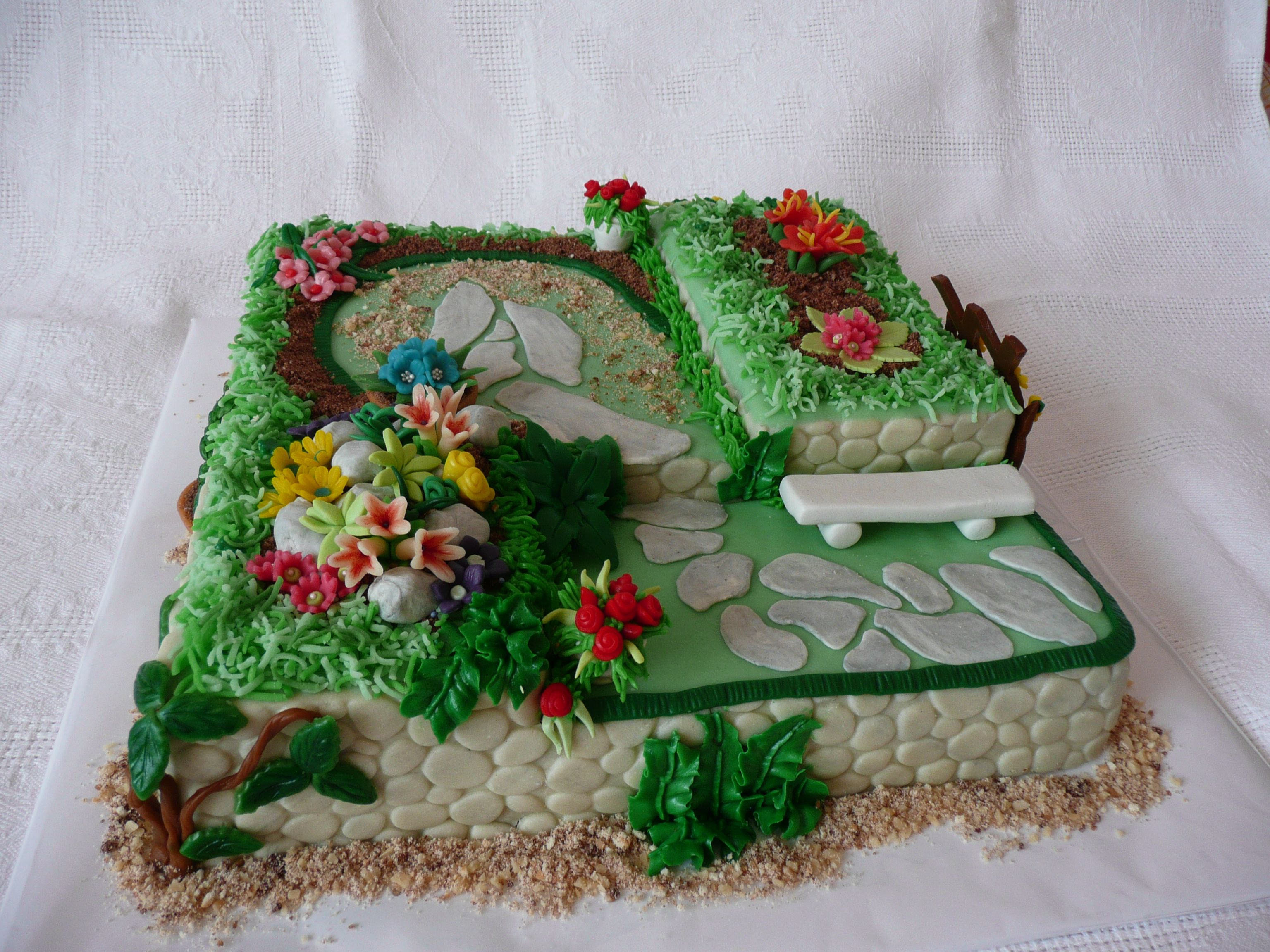 cake - Garden Design Birthday Cake