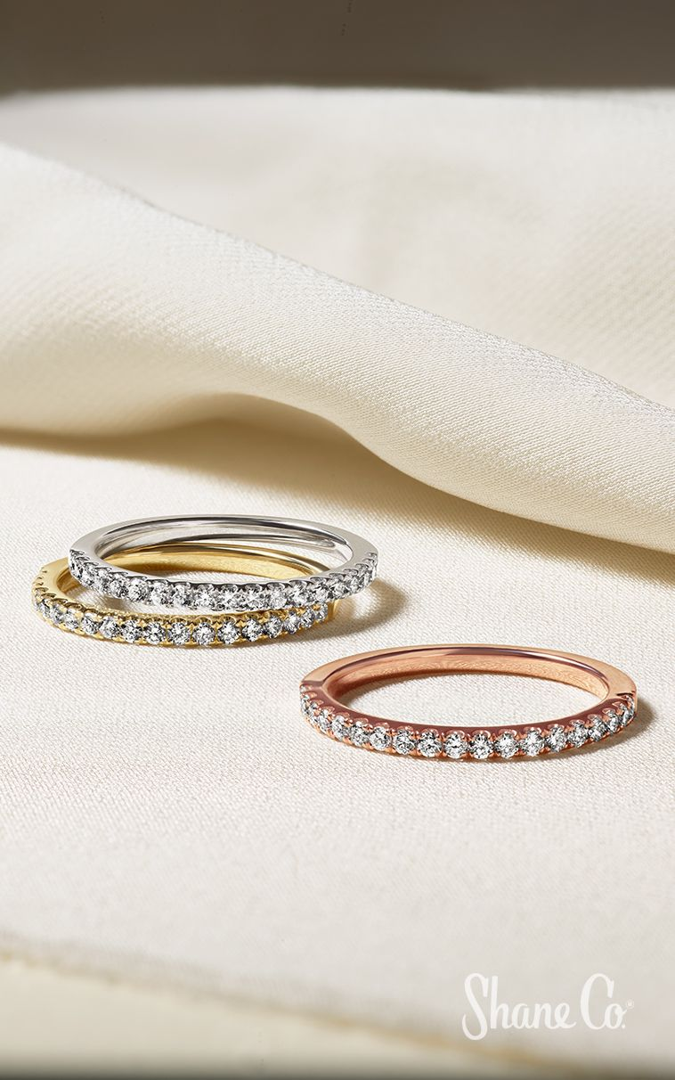 The Wedding Band That Goes With Everything Find Your Perfect Match Today Article Numbers 41048913 410 In 2020 Pave Wedding Bands Wedding Bands Womens Wedding Bands