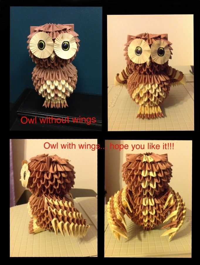 owl with wings… – Album – esojoey – Page 3793 – 3D Origami ... - photo#17