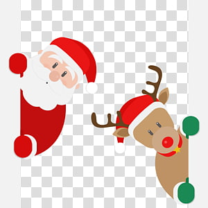 Rudolph Santa Claus Reindeer Santa And Deer Transparent Background Png Clipart Christmas Reindeer Santa Claus Reindeer Santa Claus Clipart