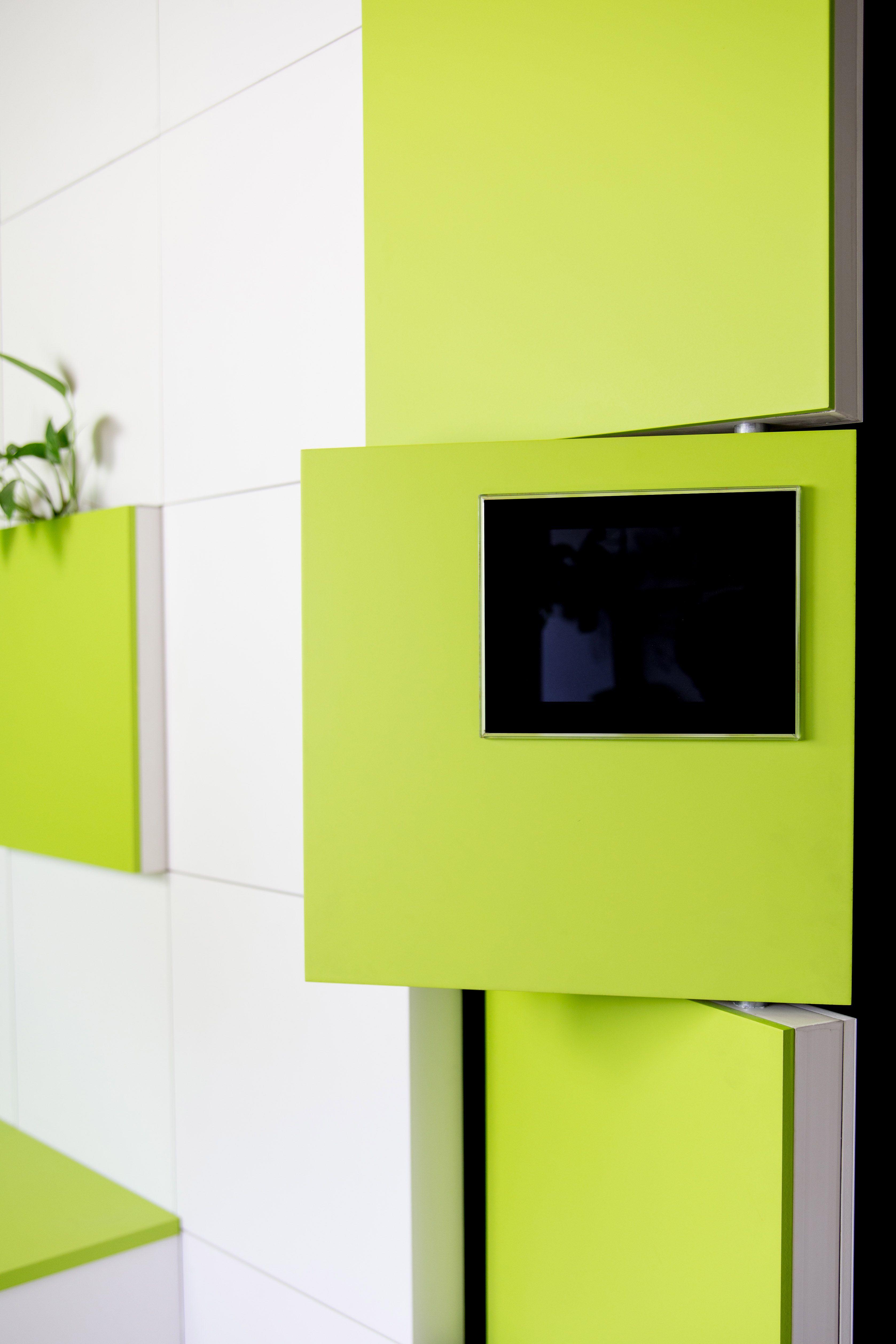 Tabique giratorio asim trico de serastone con placas en - Tabiques separadores de ambientes ...