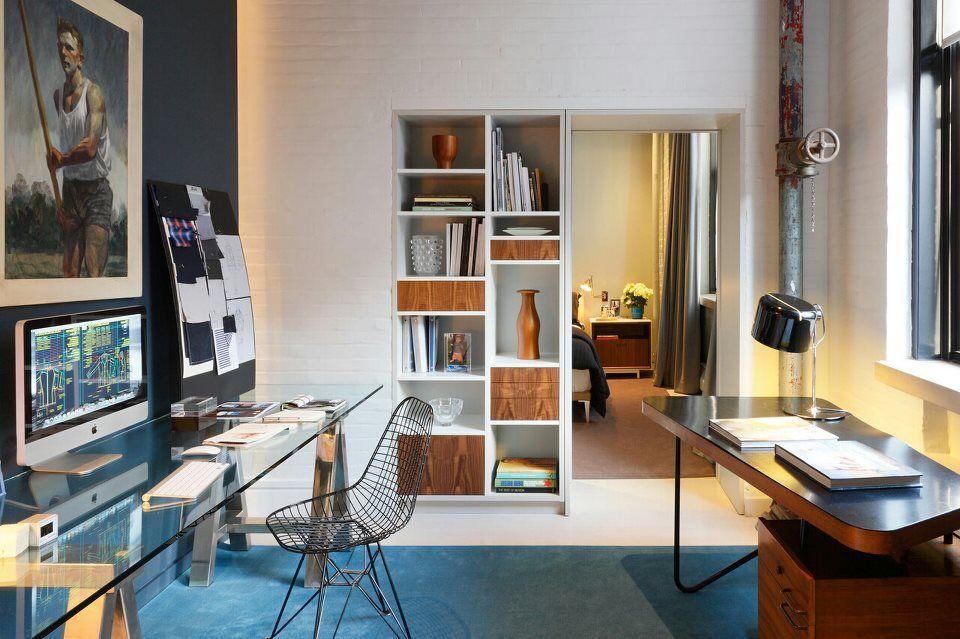 Awesome Camera Da Letto E Studio Contemporary - Idee Arredamento ...