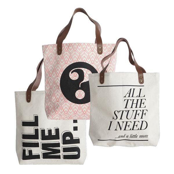 Taske/Shopper fra House Doctor med print købes billigt online her