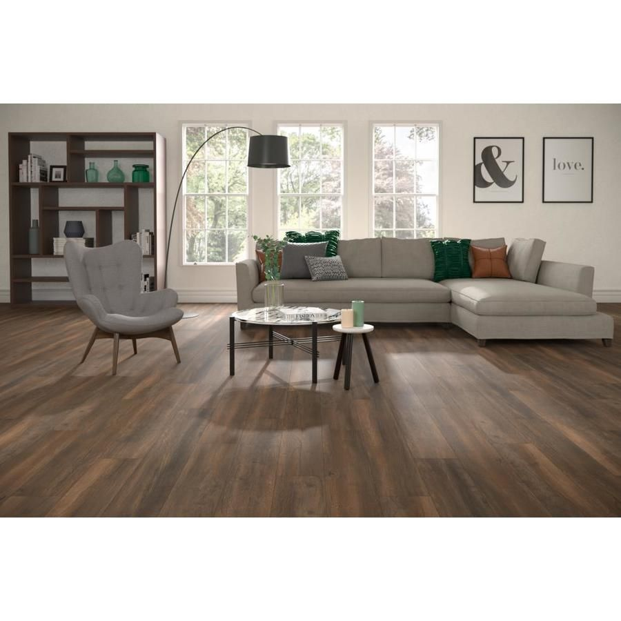 Allen Roth Harbor Mill Oak 7 59 In W X 4 23 Ft L Embossed Wood Plank Laminate Flooring Lowes Com Oak Laminate Flooring Oak Laminate Laminate Flooring