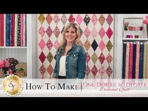 How To Make The One Derful 60 Degree Diamond Quilt With