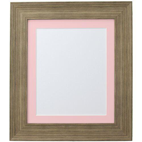 Photo of Stehrahmen Natur Pur Natur Pur Farbe: Braun/Rosa, Größe: 34,4 cm H x 29,32 cm B x 2,5 cm T, Bildergröße: 20,32 cm H x 15,24 cm B