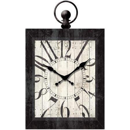 Better Homes And Gardens 23 Rectangle Pocket Watch Wall Clock Black Farmhouse Wall Clocks Wall Clock Clock