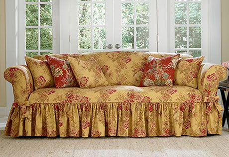 Ballad Bouquet By Waverly One Piece Chair Slipcover 100
