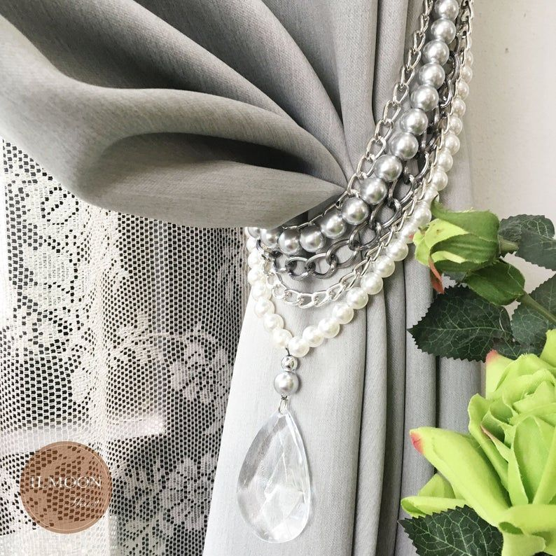 Luxury Drapery / Elegant Tie Back / Curtain Tie Backs / Hold Backs Holdback Modern Luxury Victorian Decor TRULY GORGEOUS! / Free Shipping