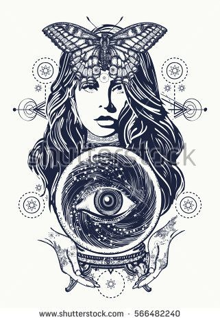 Mystic Tattoo Designs : mystic, tattoo, designs, Magic, Woman, Tattoo, Fortune, Teller,, Crystal, Ball,, Mystic, Magic., Seeing, Future., Occult, Symbol, The…, Mystical, Tattoos,, Tattoo,