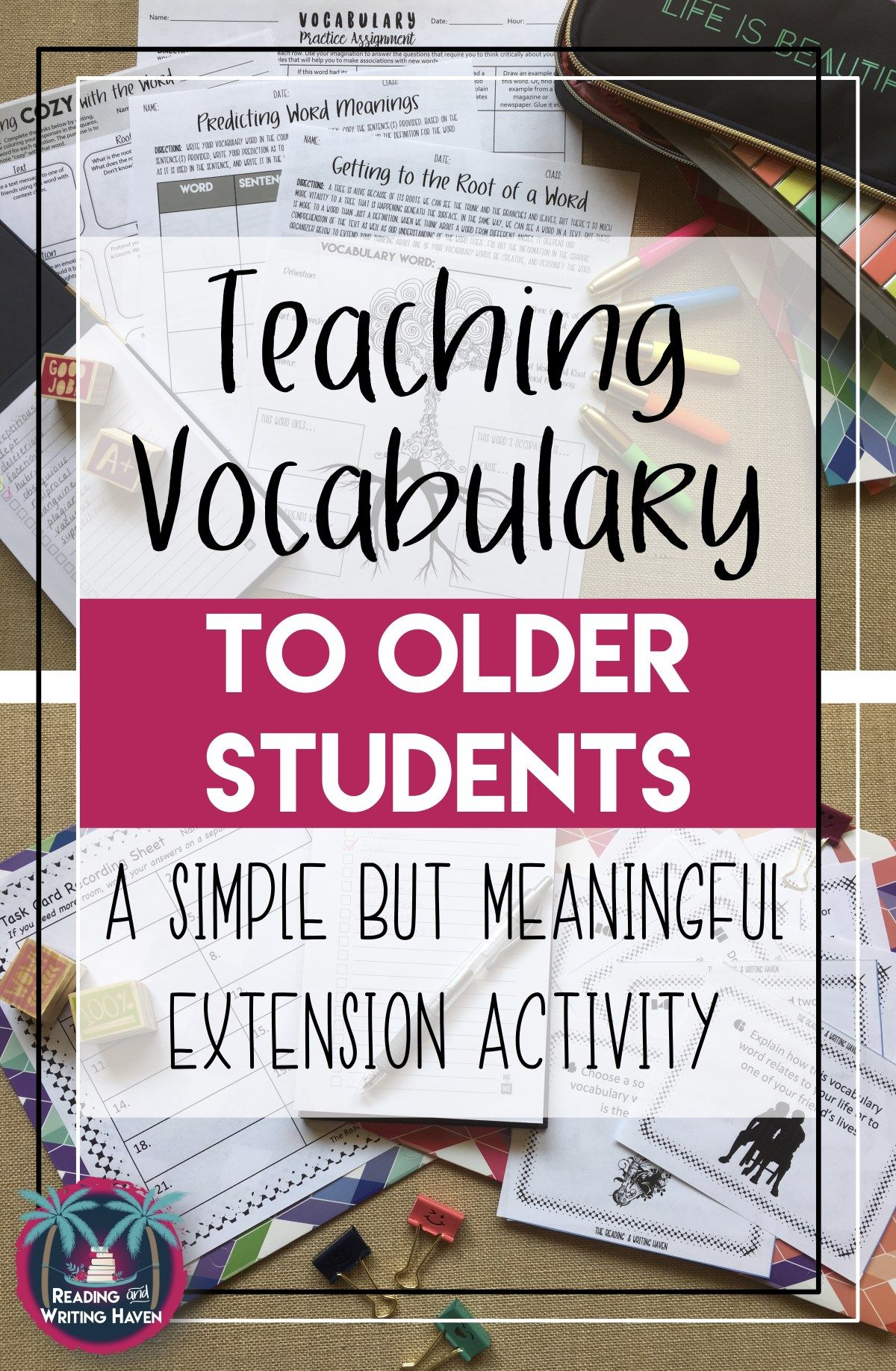 A Fun Vocabulary Activity For Middle Or High School