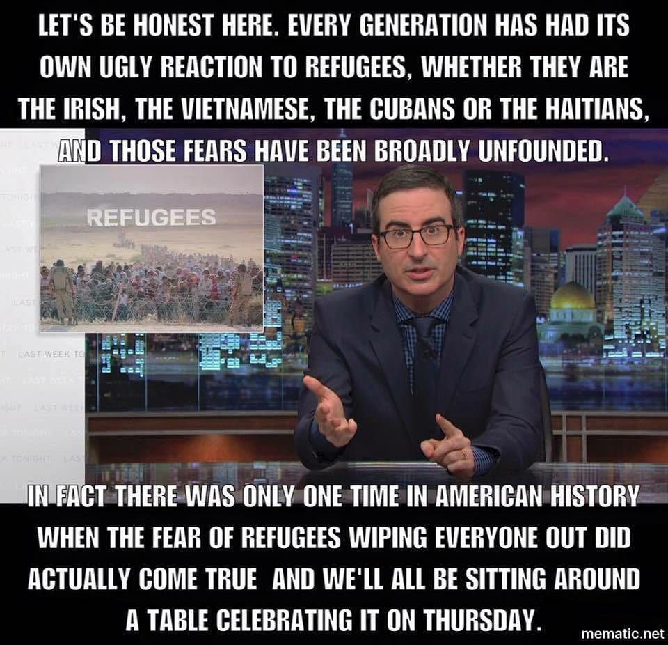 The best thing John Oliver has said all year!
