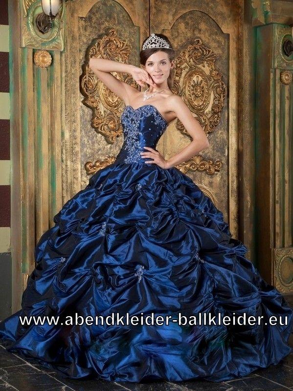 Dunkel Blaues Prinzessin Sissi Ballkleid Abendkleid | Kleider ...